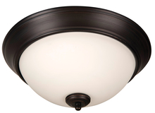 "Jeremiah XP15ABZ-3W - Pro Builder 3 Light 15"" Flushmount in Aged Bronze Brushed"