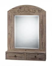 Sterling Industries 116-001 - DOUBLE DRAWER WALL MIRROR IN WASHED WOOD