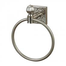 Sterling Industries 131-009 - Towel Ring In Brushed Steel With Embossed Back Plate