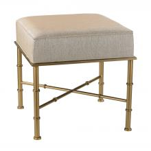 Sterling Industries 180-014 - Gold Cane Bench In Cream Metallic Linen