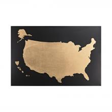 Sterling Industries 351-10202 - Metallic World Map On Black