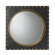 Sterling Industries 51-004 - Metal Rivet Porthole Mirror In Bronze