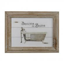 Sterling Industries 51-10014 - Savon De Bains Picture In Wooden Frame