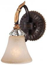 Minka Metropolitan n2691-258b - One Light French Bronze With Gold Leaf Highlights Champagne Scavo Glass Bathroom Sconce