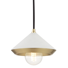 Hudson Valley H139701S-AGB/WH - 1 Light Small Pendant