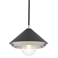 Hudson Valley H139701S-PN/BK - 1 Light Small Pendant