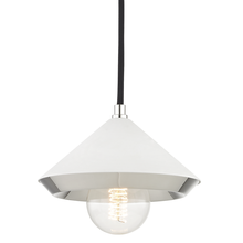Hudson Valley H139701S-PN/WH - 1 Light Small Pendant