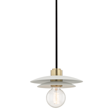 Hudson Valley H175701S-AGB/WH - 1 Light Small Pendant