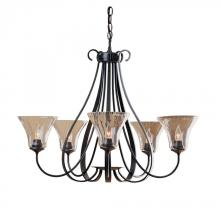Hubbardton Forge 101454-SKT-05-LL0022 - Sweeping Taper 5 Arm Chandelier