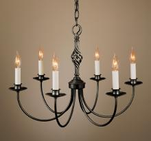 Hubbardton Forge 108060-SKT-07 - Twist Basket 6 Arm Chandelier