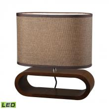 Dimond D153-LED - Oval LED Table Lamp in Natural Stained Wood