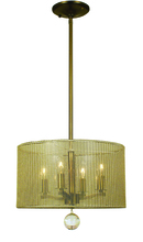Framburg 1024 AB - 4-Light Antique Brass Simone Mini Chandelier