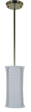 Framburg 4640 PN - 1-Light Polished Nickel Michele Pendant