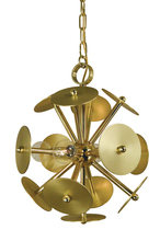 Framburg 4974 PB/SB - 4-Light Polished Brass/Satin Brass Apogee Mini Chandelier