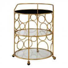 Uttermost 24684 - Uttermost Xandra Gold Serving Cart
