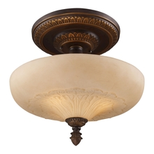 ELK Lighting 08094-AGB - Restoration Flushes 3 Light Semi Flush In Antiqu