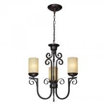 ELK Lighting 11511/3 - Three Light Aged Bronze Candle Chandelier