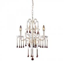 ELK Lighting 4001/3AMB - Three Light Antique White Up Chandelier