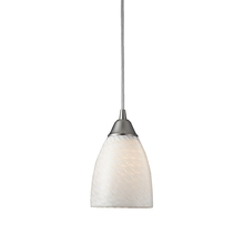 ELK Lighting 416-1WS-LED - Arco Baleno 1 Light LED Pendant In Satin Nickel