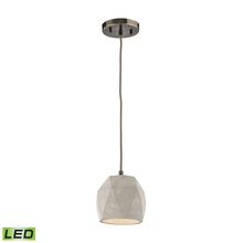 ELK Lighting 45330/1-LED - Urban Form 1 Light LED Pendant In Black Nickel
