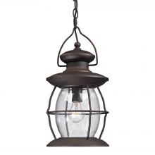 ELK Lighting 47043/1 - Village Lantern 1 Light Outdoor Pendant In Weath