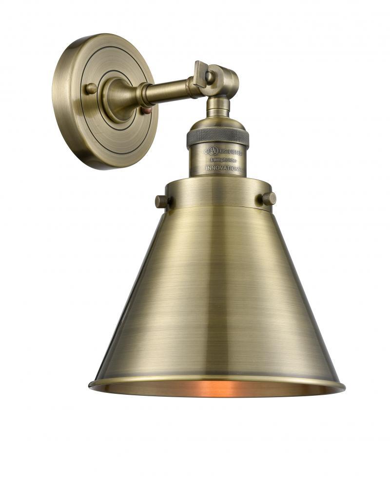 Innovations 201S-AC-M10-AC-LED 1 Light Vintage Dimmable LED Mini Pendant Antique Copper
